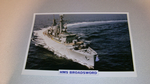 HMS Broadsword 1976 warship framed picture